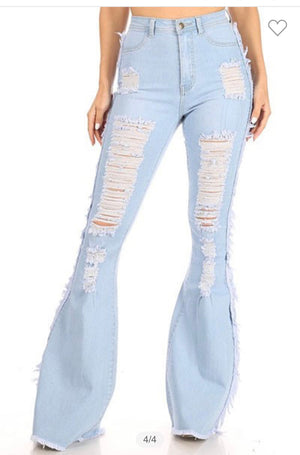 Wild West Distressed Flares- ships 3/25