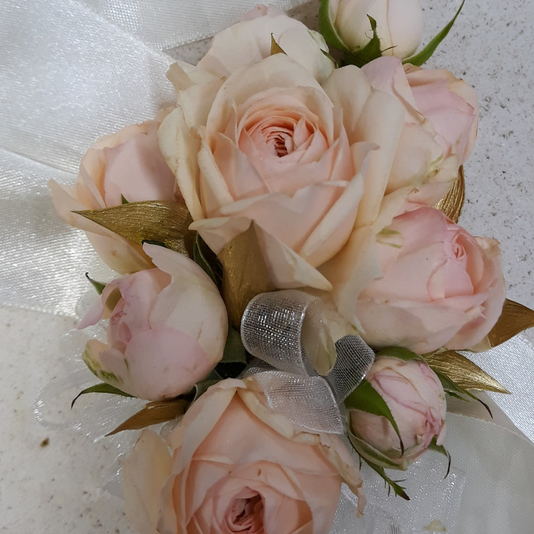 Wrist Corsage- Cluster spray roses