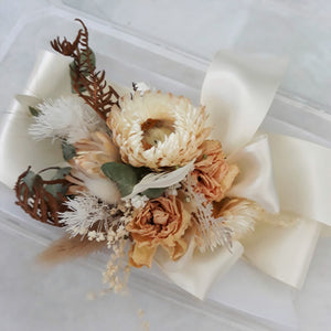 Wrist Corsage- Preserved/Dried Flowers