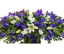 Load image into Gallery viewer, Casket Cover Lilies and Iris