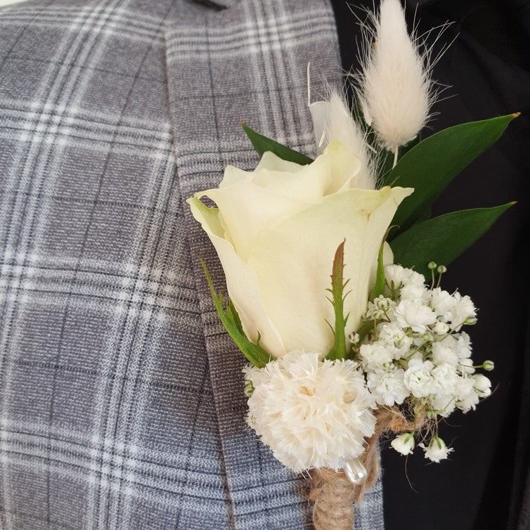 Buttonhole- Rose with preserved elements