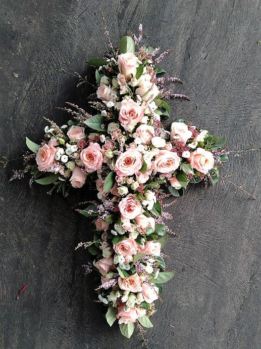 Pastel Rose Cross