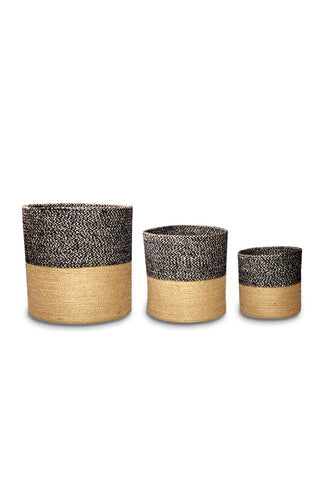 Charcoal & Natural Jute Planter