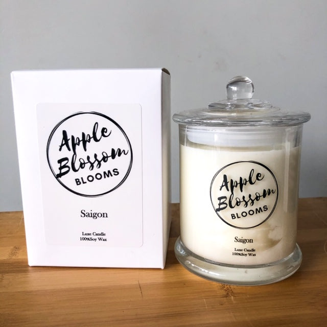Saigon, Apple Blossom Blooms Luxe Soy Candle