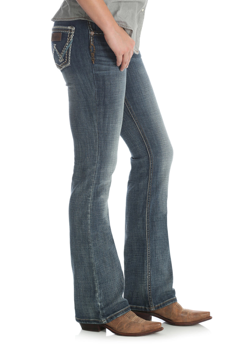 Womens Wrangler Retro Low Rise Boot Cut Sadie Jean