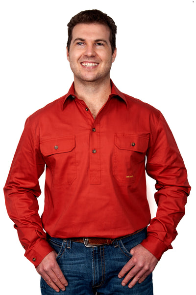 Just Country Mens Camera Workshirt