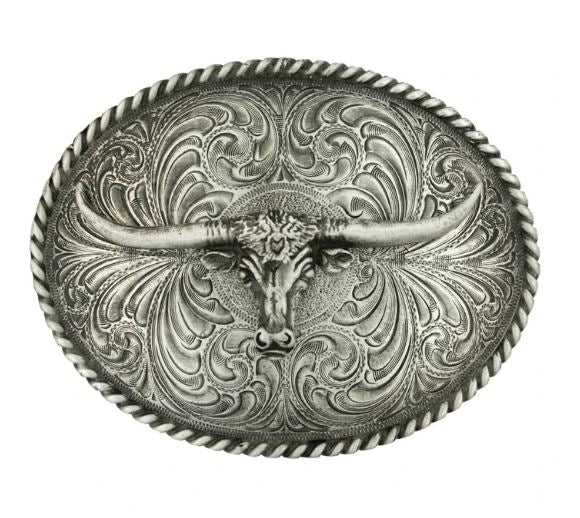 Western Buckle Antiqued steerhead
