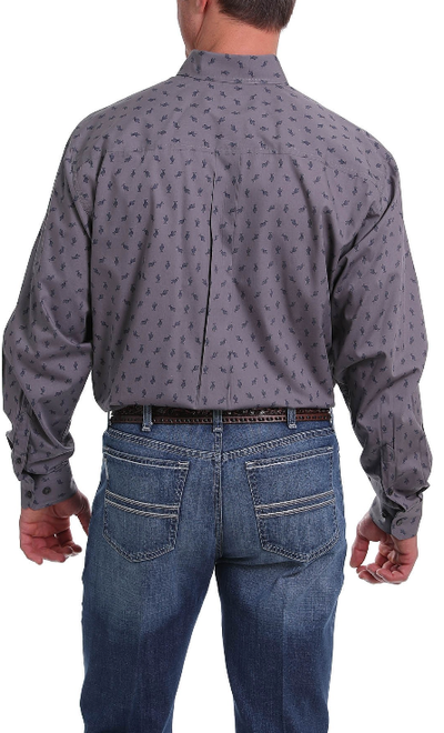 Cinch Mens Cactus Print Cutton Down Shirt