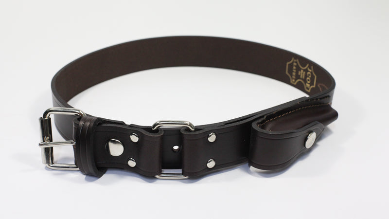 Jcoe Stockmans Belt with Pouch & Press Stud