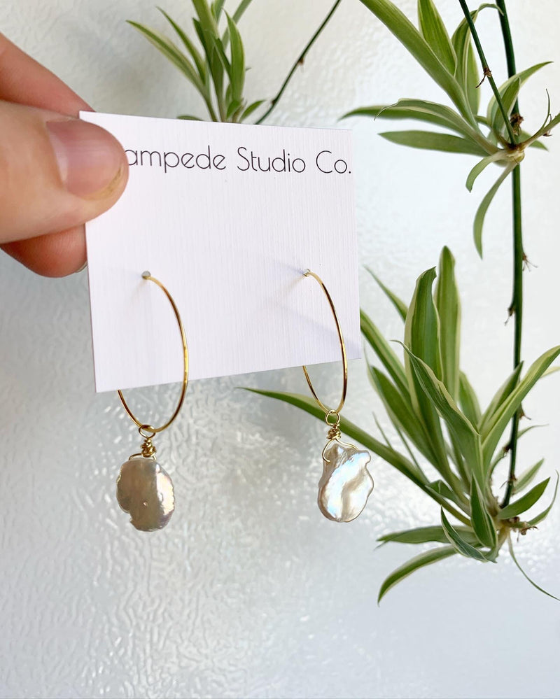 Stampede Studio Co Pearl Hoops