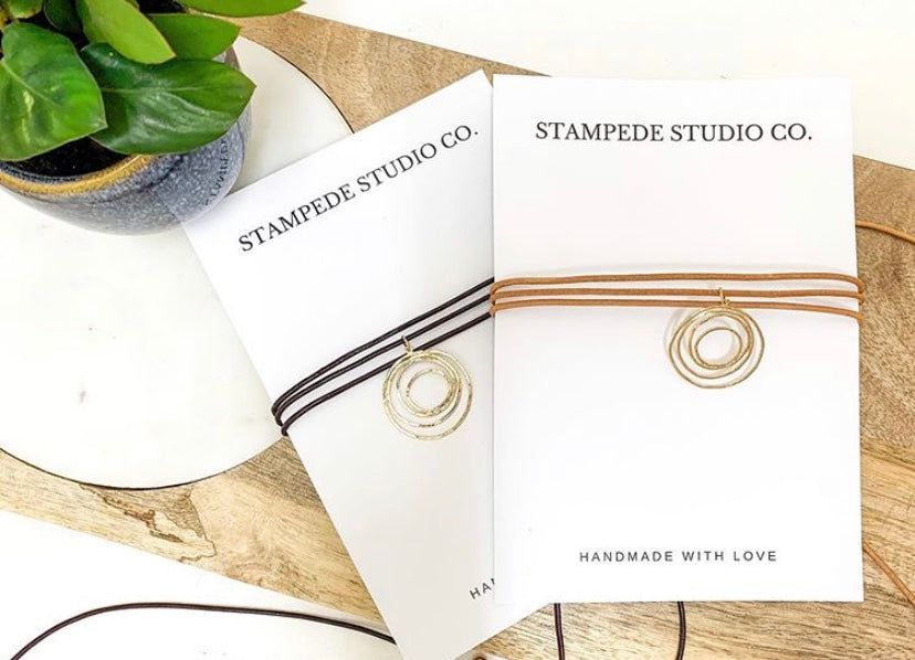 Stampede Studio Co Gold Pendent Neck Wrap