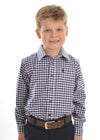 Boys Mason Check Long Sleeve Shirt