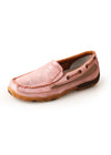 Twisted X Womens Pink Lustremoc Slip ons