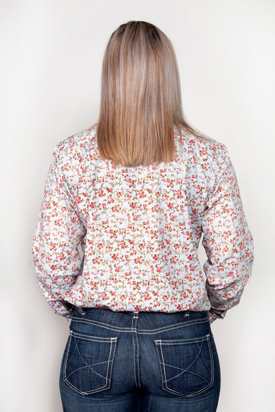 Just Country Womens Georgie Half Button Print Workshirt