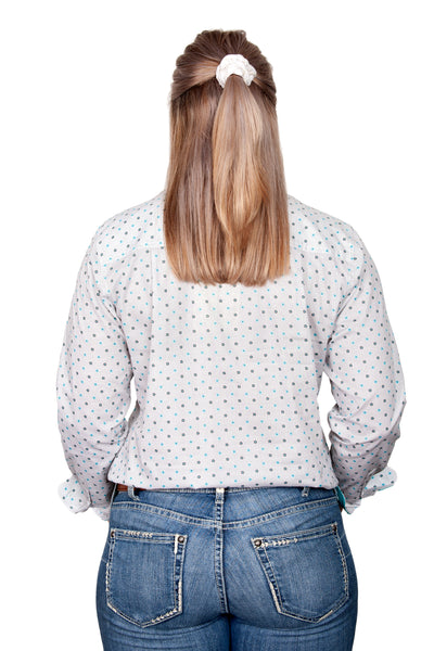 Just Country Georgie Half Button Print Workshirt