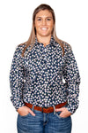 Just Country Womens Georige Half Button Shirt