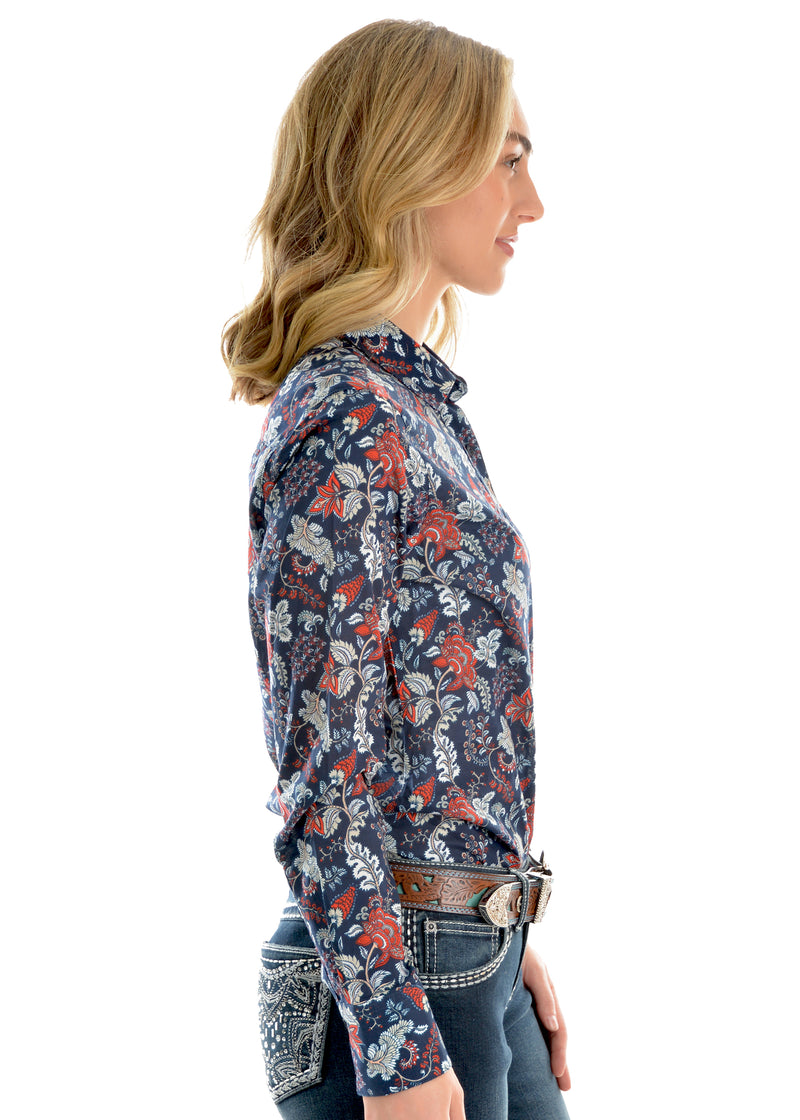 Wrangler Ladies Macy Print Long Sleeve Shirt