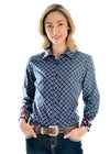 Wrangler Ladies Tamsin Print Long Sleeve Shirt