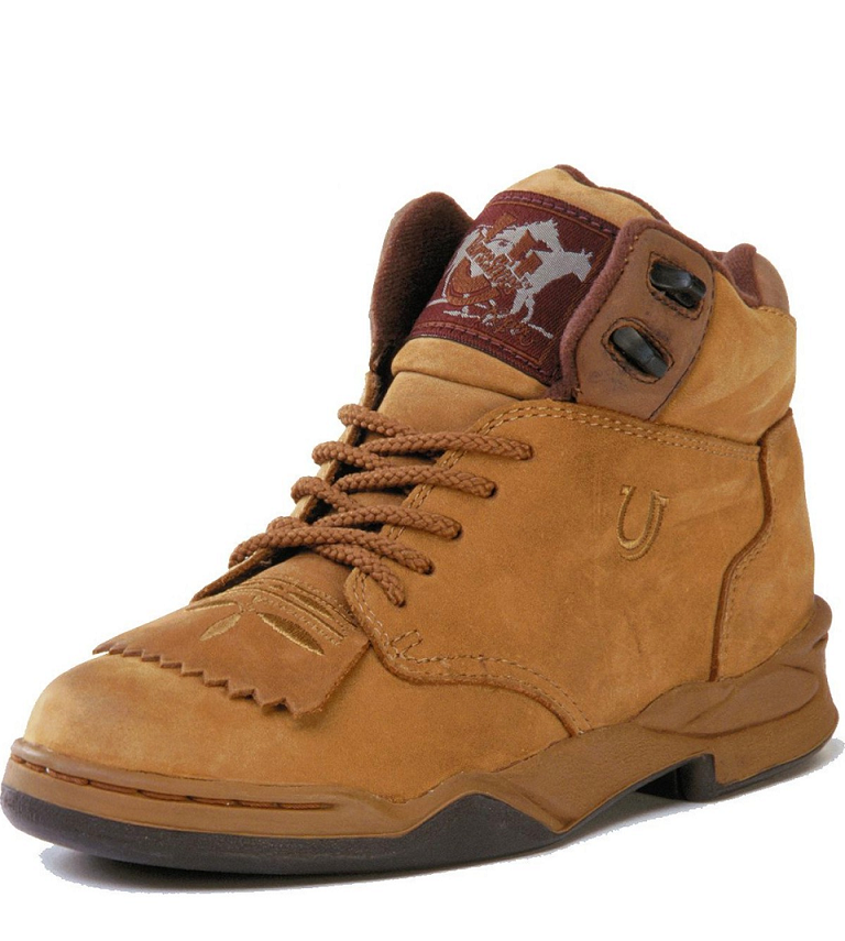 Roper Mens Amber Kiltie Horseshoe Lace Up Boot