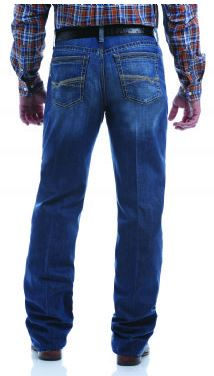Mens Relaxed Fit Grant October Jean - Medium Stonewash