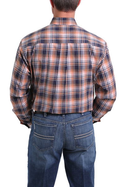 Cinch Mens Plaid Button Down Shirt