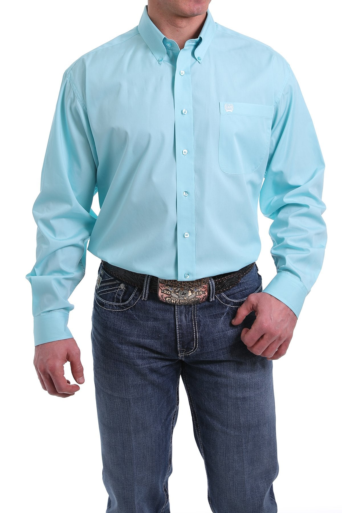 Cinch Mens Light Blue Shirt