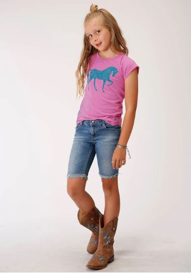 Roper Gls Tee Five Star Collection Pink