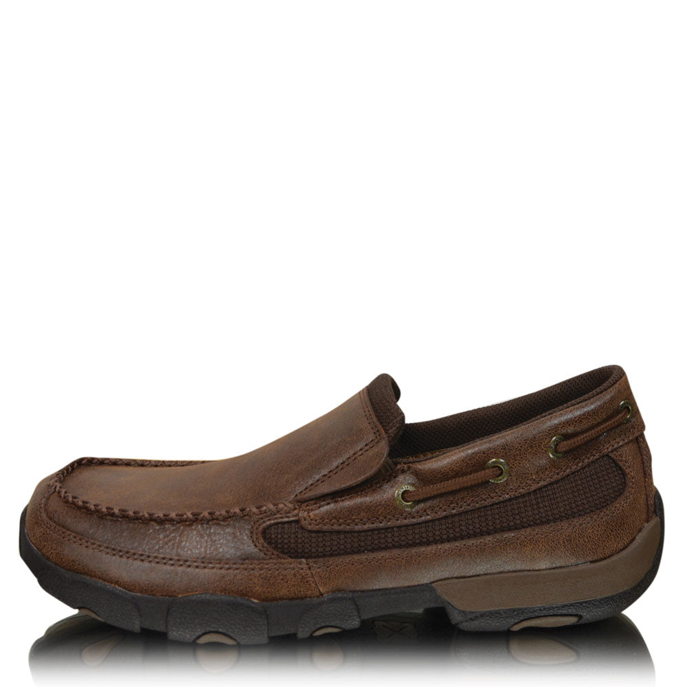 Twisted X Mens Casual Driving Moc Slip Ons
