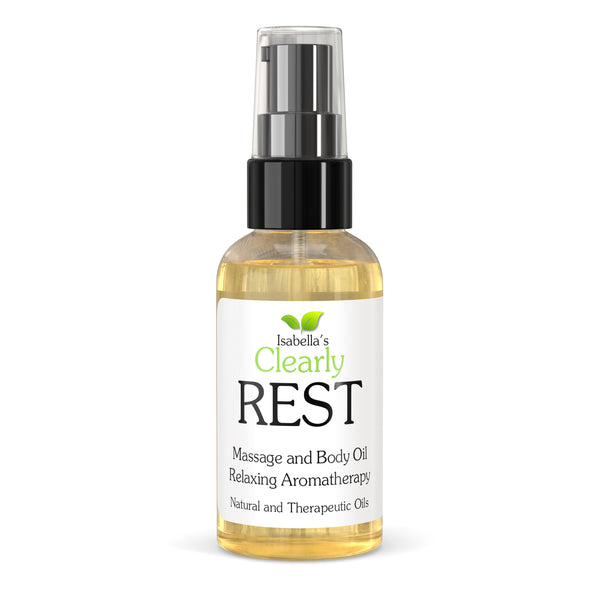 Isabella's Clearly - REST, Aromatherapy Massage and Body Oil for Stress Relief (2 Oz) - 2.0 oz.