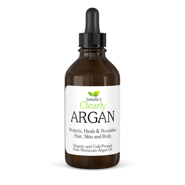 Isabella's Clearly - Argan, Pure Moroccan Argan Oil For Face, Hair And Body (4 Oz.)