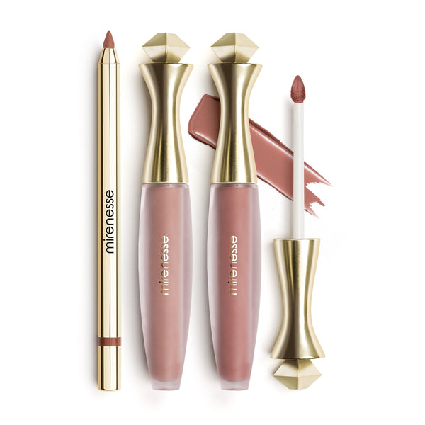 Mirenesse - Nude Kiss All Day Lip Kit Matte Velvet-3pce