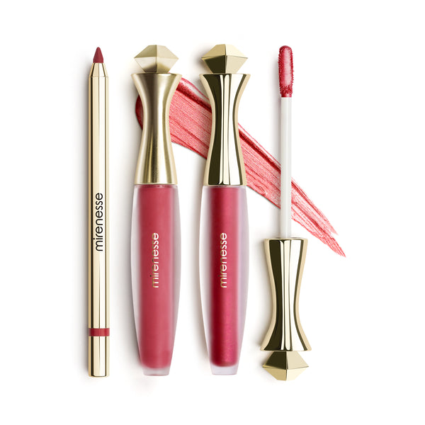 Mirenesse - Of Red All Day Lip Kit Matte + Metallic -3pce