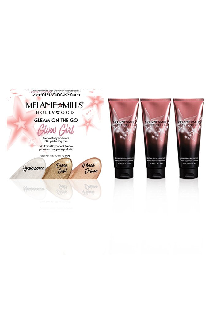 Melanie Mills Hollywood - Glow Girl Gleam On The Go Gleam Body Radiance Kit