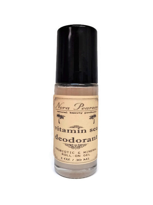 Nora Pearson - Vitamin Sea Deodorant Probiotic & Mineral Roll-on (1 fl oz.) - Amberwood & Moss