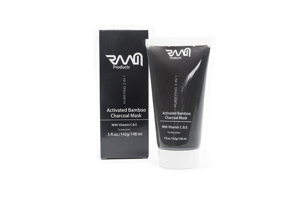 RAAM - Purifying 3 in 1 Activated Bamboo Charcoal Detox Mask - 150 ml