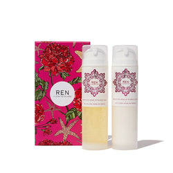 Ren - Moroccan Rose Body Wash & Lotion Set