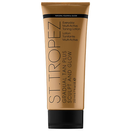 St. Tropez - Gradual Tan Plus Sculpt And Glow Everyday Multi-active Toning Lotion