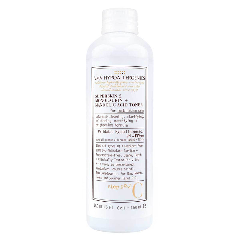 Vmv Hypoallergenics - Superskin 2 Monolaurin + Mandelic Acid Toner For Combination Skin 150 Ml