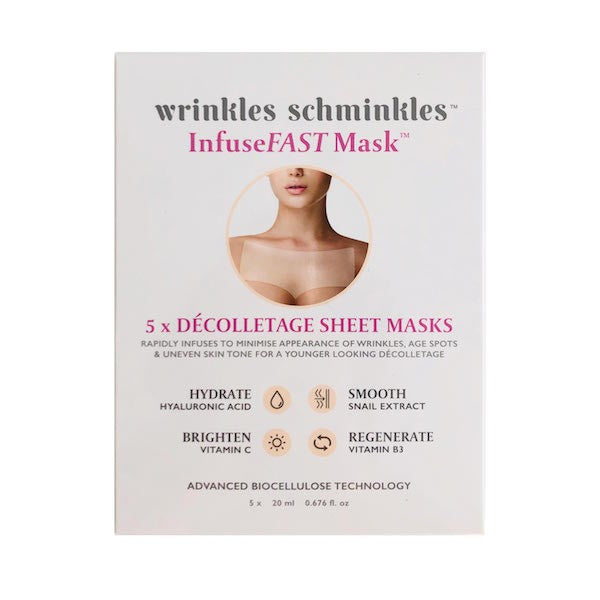 Wrinkles Schminkles - InfuseFAST Decolletage Sheet Mask - Single