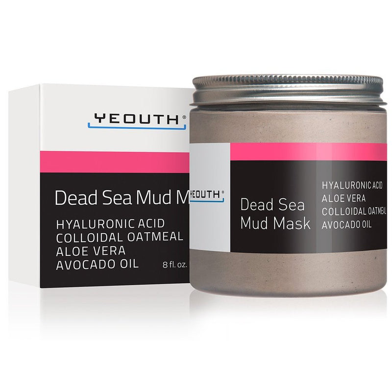 Yeouth - Dead Sea Mud Mask With Hyaluronic Acid, Aloe, Oatmeal, & Avocado Oil