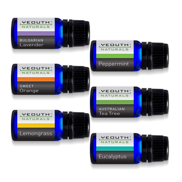 Yeouth - Pure Essential Oils For Aromatherapy (set Of 6)