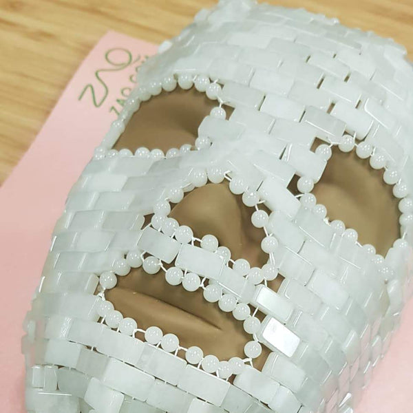 White Jade Face Mask - Handmade
