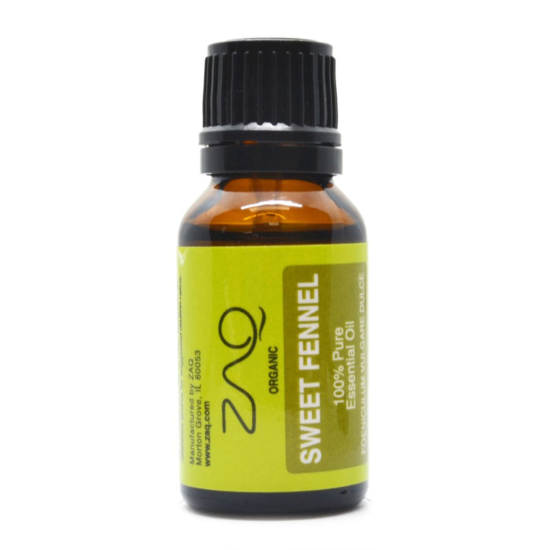 ZAQ Sweet Fennel Organic 100% Pure Therapeutic Grade Essential Oil - 15ml