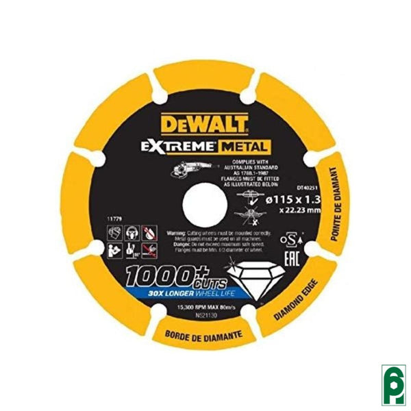 Disco Diamantato Mm.115X22 23X1 3 Dt40251 Dewalt Lame