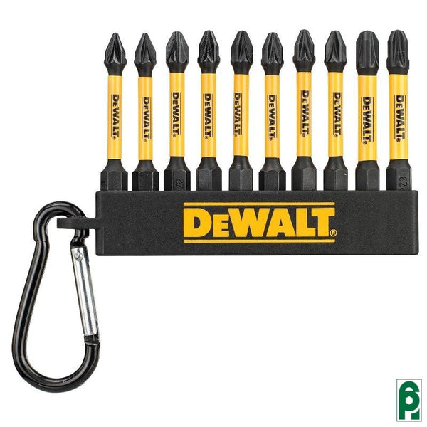 Set 10 Inserti Flex Torq 50 Mm Pozidriv Dt7276 Dewalt Accessori
