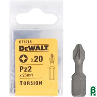 Set Di 20 Punte Pozidriv 25 Mm Dt7218 Dewalt Accessori