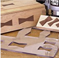 Model 100 Butterfly Inlay Template - Jasper P Tools