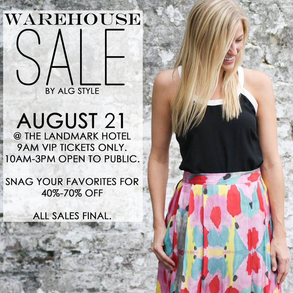 THE WAREHOUSE SALE: NEW ORLEANS