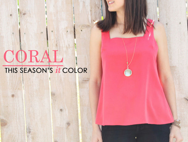 Coral: This Season's IT Color
