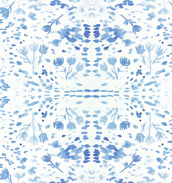 Blue Bloom Print